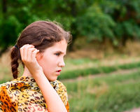 Beauty teen girl on nature Royalty Free Stock Images