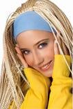 Beauty teen portrait. Beauty portrait of girl with blonde dreadlocks Royalty Free Stock Photography