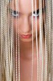 Beauty teen portrait. Beauty portrait of girl with blonde dreadlocks Stock Photo