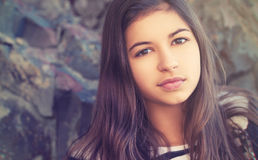 Beauty teenage girl  outdoors Royalty Free Stock Photos