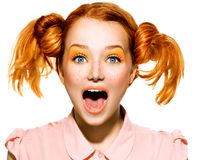 Beauty teenage model girl portrait royalty free stock photography