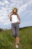 Beauty teenage outdoors Royalty Free Stock Photo