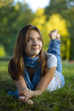 Beauty teenage outdoors Royalty Free Stock Images