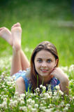 Beauty teenage outdoors Stock Image