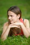 Beauty teenage outdoors Royalty Free Stock Image