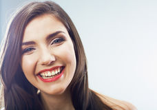 Beauty teenager girl close up portrait. Female face close up Stock Photography