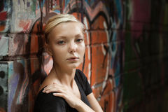 Beauty teenager girl on street Royalty Free Stock Photo