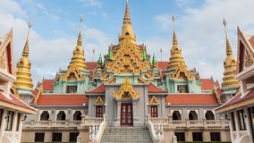 Beauty temple on daylight in Thailand stock video