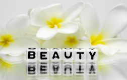 Beauty text message Royalty Free Stock Photo