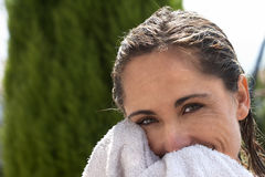 Beauty with towel Stock Photography