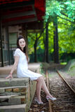 Beauty beside the track Royalty Free Stock Photography