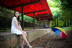 Beauty beside the track Royalty Free Stock Image