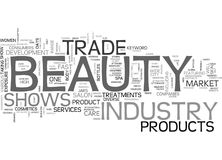 Beauty Trade Shows Word Cloud Royalty Free Stock Photo