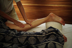 Beauty Treatment. Leg massage at SPA Royalty Free Stock Photo