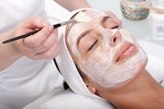 Beauty treatment at beautician royalty free stock photos