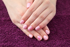 Beauty treatment of fingernails Stock Image