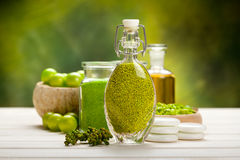 Beauty treatment - green spa Stock Photo