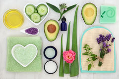 Beauty Treatment Ingredients Royalty Free Stock Photography