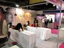 Beauty treatment. Its photo of Beauty treatment session Event - Professional Beauty Expo 2015, Mumbai Date - 6th Oct 2015 stock image