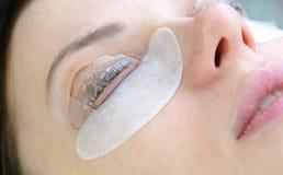 Beauty treatment. lash lamination. Closeup face and eyes. Beauty treatment. lash lamination. Closeup face and eyes Stock Photo