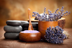 Beauty treatment - lavender spa Stock Images