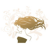 Beauty treatment salon silhouette woman Royalty Free Stock Images