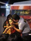 Beauty treatment session. Its photo of beauty treatment session Event - Professional Beauty Expo 2015, Mumbai Date - 6th Oct 2015 stock photo