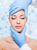 Beauty treatment of skin Royalty Free Stock Images
