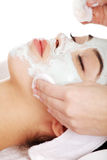 Beauty treatment in spa salon Stock Photos