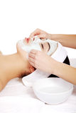 Beauty treatment in spa salon. Royalty Free Stock Photography