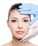Beauty treatment of woman face Stock Photography