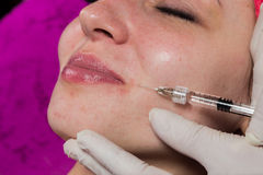 Beauty treatments in the beauty salon Royalty Free Stock Images