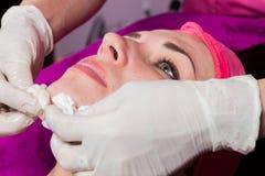 Beauty treatments in the beauty salon Royalty Free Stock Photo