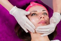 Beauty treatments in the beauty salon Stock Photography