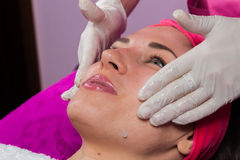Beauty treatments in the beauty salon Stock Image