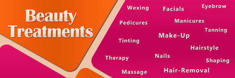 Beauty Treatments Peach Pink Stock Images