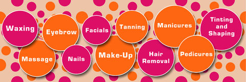 Beauty Treatments Peach Pink Circles Royalty Free Stock Images