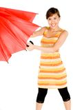 Beauty With Umbrella Royalty Free Stock Photography