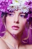 Beauty under a veil Stock Photos