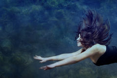 Beauty underwater stock photo