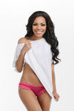 Beauty in underwear. Stock Photo