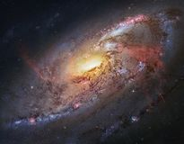 The beauty of the universe: Huge and detailed Spiral Galaxy M106 stock images