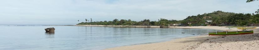 Panorama of Ursa beach. The beauty of Ursa beach in candon, ilocos Royalty Free Stock Image