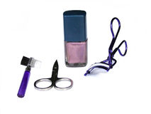 Beauty utensils Stock Images