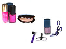 Beauty utensils. Buaety utensils with nail polish stock images
