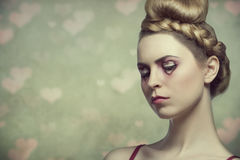 Beauty valentines woman Royalty Free Stock Images
