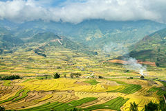 Beauty of the valley at harvest time. Stock Photos