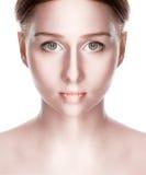 Beauty vampire with green eye stock photos