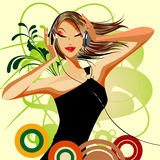 Beauty vector girl Stock Photo