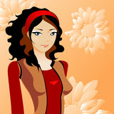 Beauty vector girl Royalty Free Stock Images